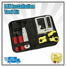 Network LAN KIT RJ11 RJ45 CAT5e CAT6 Cable Tester CRIMPING TOOL Stripper Cutter