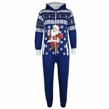 Unisex Girls Boys Novelty Christmas Santa Reindeer Jumpsuit ALL IN ONE 11-12 Yrs