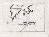 Carte XVIIIe Géographique Ile Psara Ψαρά  Псара Grèce Ile Antispara 1764