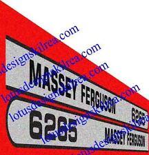 Massey Ferguson 6200 series bonnet stickers / decals