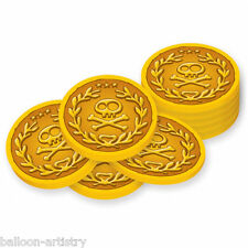 40 Jake Y Los nunca Tierra Piratas Fiesta De Plástico De Monedas De Oro favorece Decoraciones