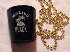 Malibu Black Rum...Shot Glass on a String of Beads....Plastic....NEW