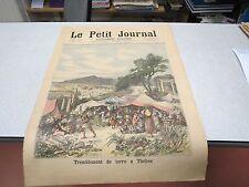 LE PETIT JOURNAL SUPPLEMENT ILLUSTRE N 134 1893 TREMBLEMENT DE TERRE A THEBES