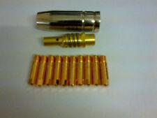 10x0.6mm MIG TIP + MB15 MIG NOZZLE SHROUD SEALEY SIP DRAPER CLARKE ESAB CEBORA
