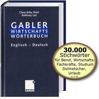 Gabler Wirtschaftswörterbuch Englisch - Deutsch; Bd.2 (Fachwörterbuch; Dietl/Lee