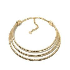 """R.J. GRAZIANO """"LIVE IN DAZZLE"""" GOLDTONE TRIPLE-ROW 15"""" COLLAR NECKLACE HSN $59"""