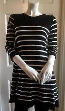 Wallis Womens Striped Soft Knit Long Jumper S (UK 10)