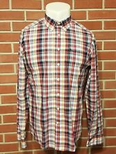 Gant by Michael Bastian Long Sleeve Button Down Checkered Shirt Mens Size XL EUC