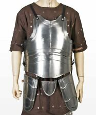 Medieval Large 20G matel Breast Plate Body Armor withTassets Fluted Cuirass