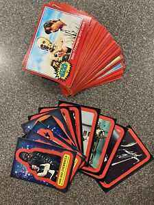 """Star Wars Trading Cards, Complete """"Set 2"""" Red, #67-132, with Stickers #12-22, NM"""