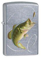 Zippo Lighter: Bass Fishing - Street Chrome 77475