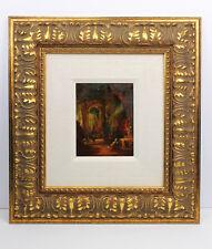 1800s ORIGINAL DUTCH Oil Painting Bosboom Church Grote Kerk LISTED Framed COA