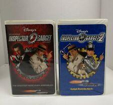 Walt Disney's Inspector Gadget 1 and 2 (1999, 2003, VHS)