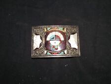 Vintage Native American Zuni Don & Velma Dewa Inlay Belt Buckle