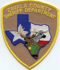 ZAVALA COUNTY TEXAS TX SHERIFF POLICE PATCH