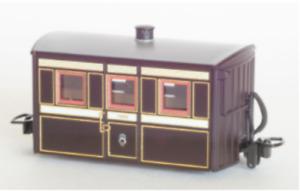 "Peco GR-555 - FR ""Bug Box"" coach, 3rd Class, Victorian Livery: OO-9 Gauge - T48"