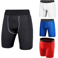 Mens Sports Compression Base Layers Shorts Tight Leggings Skin Pants Cycling Gym
