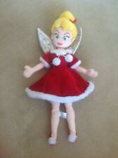 LOVELY DISNEY STORE EXCLUSIVE TINKERBELL CHRISTIMAS FAIRY SOFT PLUSH TOY DOLL