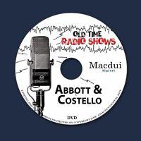 Abbott & Costello Old Time Radio Shows OTR Comedy 153 MP3 Audio Files 1 Data DVD