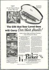 1937 PARKER Vacumatic PEN advertisement, fountain pens, desk-sets