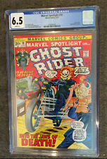 MARVEL SPOTLIGHT ON GHOST RIDER 10 CGC 6.5 HERB TRIMPE COVER WITCH WOMAN CAMEO