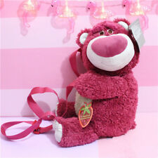 Toys Story Lotso Strawberry Bear Plush Backpack Bear Hug Brother Plush Doll Toy