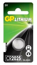 GP 2025 3V Lithium Coin Cell Batteries CR2025 DL2025 Battery - Brand New