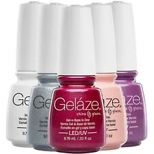 CHINA GLAZE Glaze Gel Soak Off + Nail Polish Lacquer DUO Pick Your Color NEW