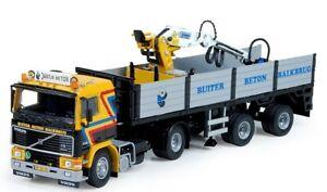 TEK72987 - Camion remorque avec grue GERBEN Buiter - VOLVO F12 4x2 -  -