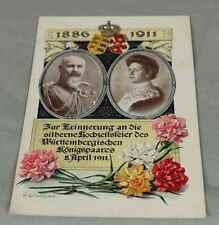 AK/ Postkarte zur silbernen Hochzeit des Württemberg. Königspaares von 1911 /195