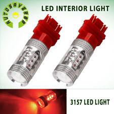 2x RED 3157/3156 High Power 80W LED Turn Signal Sider Marker Light Bulb