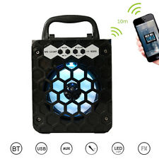 Outdoor Bluetooth Portatile LED Casse Speaker Super Bass con USB/TF/AUX/FM Radio