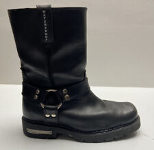 Ariat Mens Carbide H2O Motorcycle Boots Black Leather Zip 39965 Harness 9.5 EE