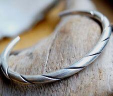 Extrem Massiv Silber 6 x 5 cm Armreif Handarbeit Armband Gedreht Schlicht Modern
