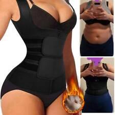 US Women Waist Trainer Vest Gym Adjustable Body Shaper With Sauna Hot Sweat Belt