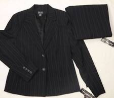 RAFAELLA Blazer/Pants Suit Black purple white pinstripes Lined 10 &12 $159 NWT