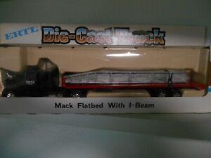 Ertl 1/64 Die-Cast Truck Series, Mack Flatbed w/beam. STK #1239