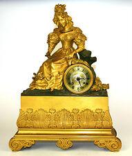 HORLOGE DE  FOYER. BRONZE. AVEC SONNERIE. STYLE NAPOLEON III. FRANCE.XIX