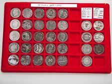 32 x10 Euro Silber/Cu-Ni 2006-2014 ( davon 7 x 10 Euro WM 06/09/10/11 )