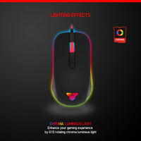 NEW VERSION CHROMA BUTTONS USB LED OPTICAL WIRED GAMING GAME MOUSE MICE UK