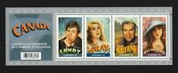 CANADIANS IN HOLLYWOOD = Souvenir Sheet of 4 stamps Canada 2006 #2153 MNH