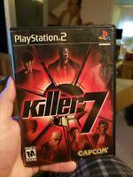 Killer 7 CAPCOM PS2 Playstation 2 CIB Complete Rare Tested working