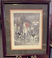 "Vintage A E S Douglas Print Engraved E G Hester Morning Going To Cover 35""x30"""