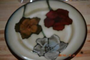 Pfaltzgraff PAINTED POPPIES Dinner & Salad/Dessert Plates + Cereal Soup Bowls+++