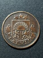 Latvia 1922  Republic  2  santimi   bronze  19.5mm   circulated  coin...