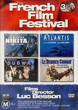 French Movies Film Festival - LUC BESSON - DVD - 4 MOVIES - LA FEMME NIKITA & ..