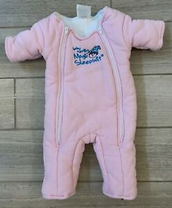 Baby Merlin's Magic Sleepsuit SMALL 3-6 Months 12-18 Pounds Pink Cotton