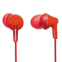 PANASONIC RPHJE125 ERGOFIT STEREO IN-EAR HEADPHONES IN RED - RPHJE125ER