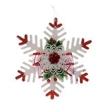 Form: Schneeflocke weiß Weihnachten Anhänger mit Loch Porzellan Deko