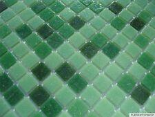 1 qm glas-mosaik fliesen pool dusche bad grün hellgrün dunkelgrün sauna mix